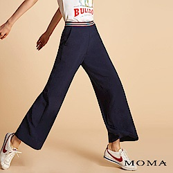 MOMA 織帶腰頭寬褲