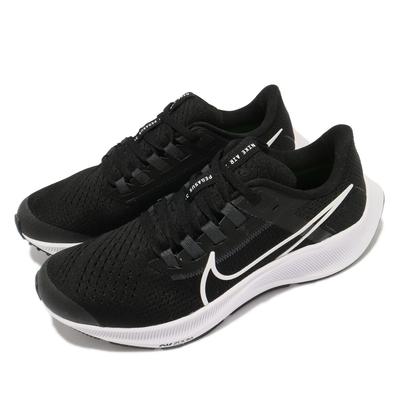 Nike 慢跑鞋 Zoom Pegasus 38 女鞋 氣墊 舒適 避震 路跑 健身 球鞋 黑 白 CZ4178002