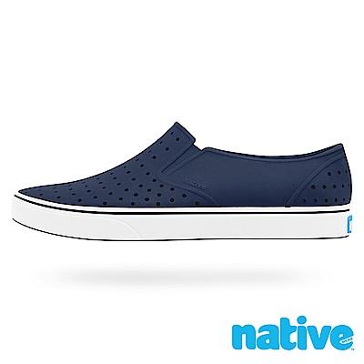 native MILES 男/女鞋-海軍藍x貝殼白
