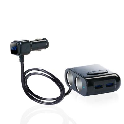 【安伯特】酷電大師智能電壓監控QC3.0 4孔車充(2孔+2USB)國家認證 電流過充保護