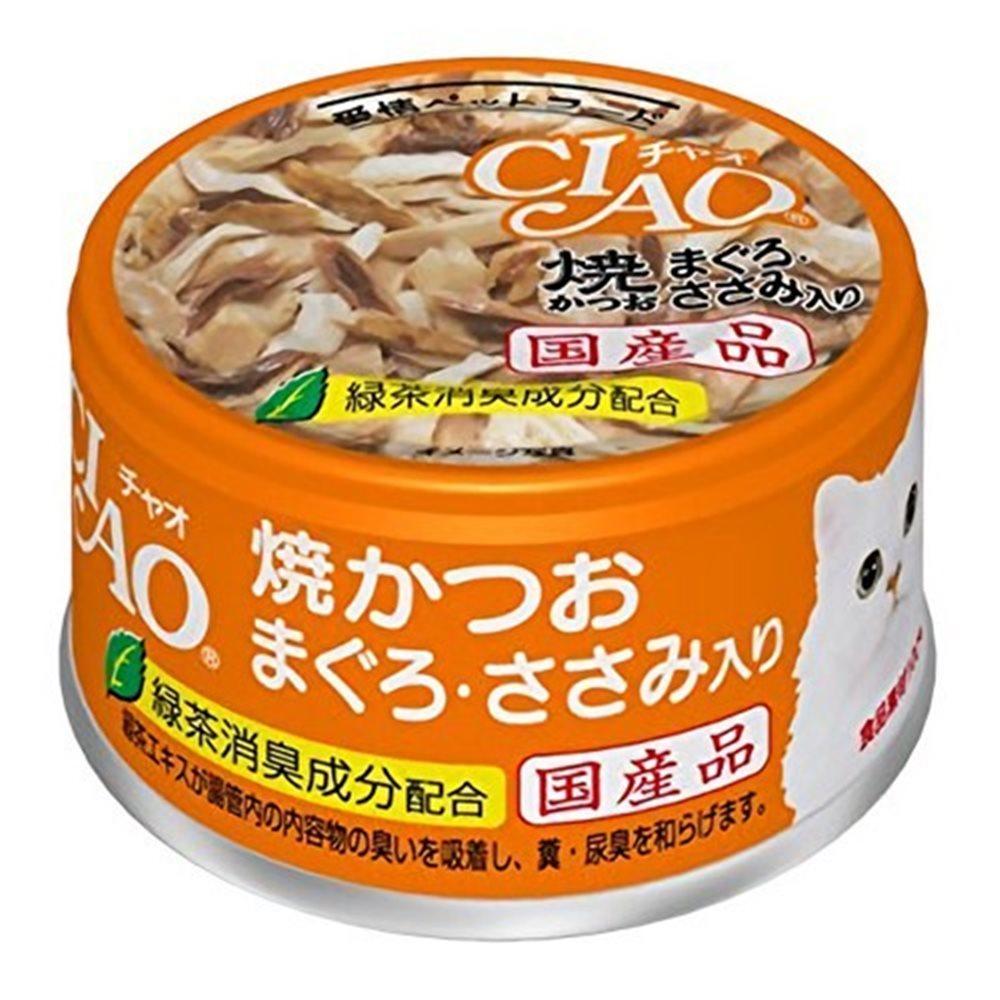 CIAO 旨定罐18號 (鰹魚燒+鮪魚+雞肉) 85g 12罐組