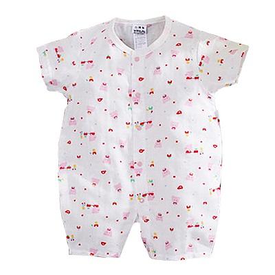印花純棉紗布連身衣 k50688 魔法Baby