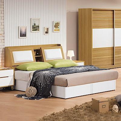 Bernice-喬托5尺雙人床組(床頭箱+床底)(不含床墊)-152x186x99cm