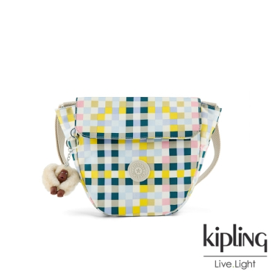 Kipling 夏日藍白條紋手提側背包-GARDEN