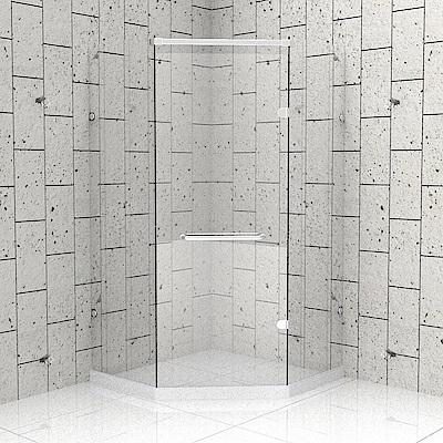 一太 五角型無框淋浴拉門-皇冠5024系列(寬120-120cm x 高200cm)