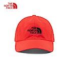 The North Face北面男女款紅色防曬透氣運動帽|CF7WWU5