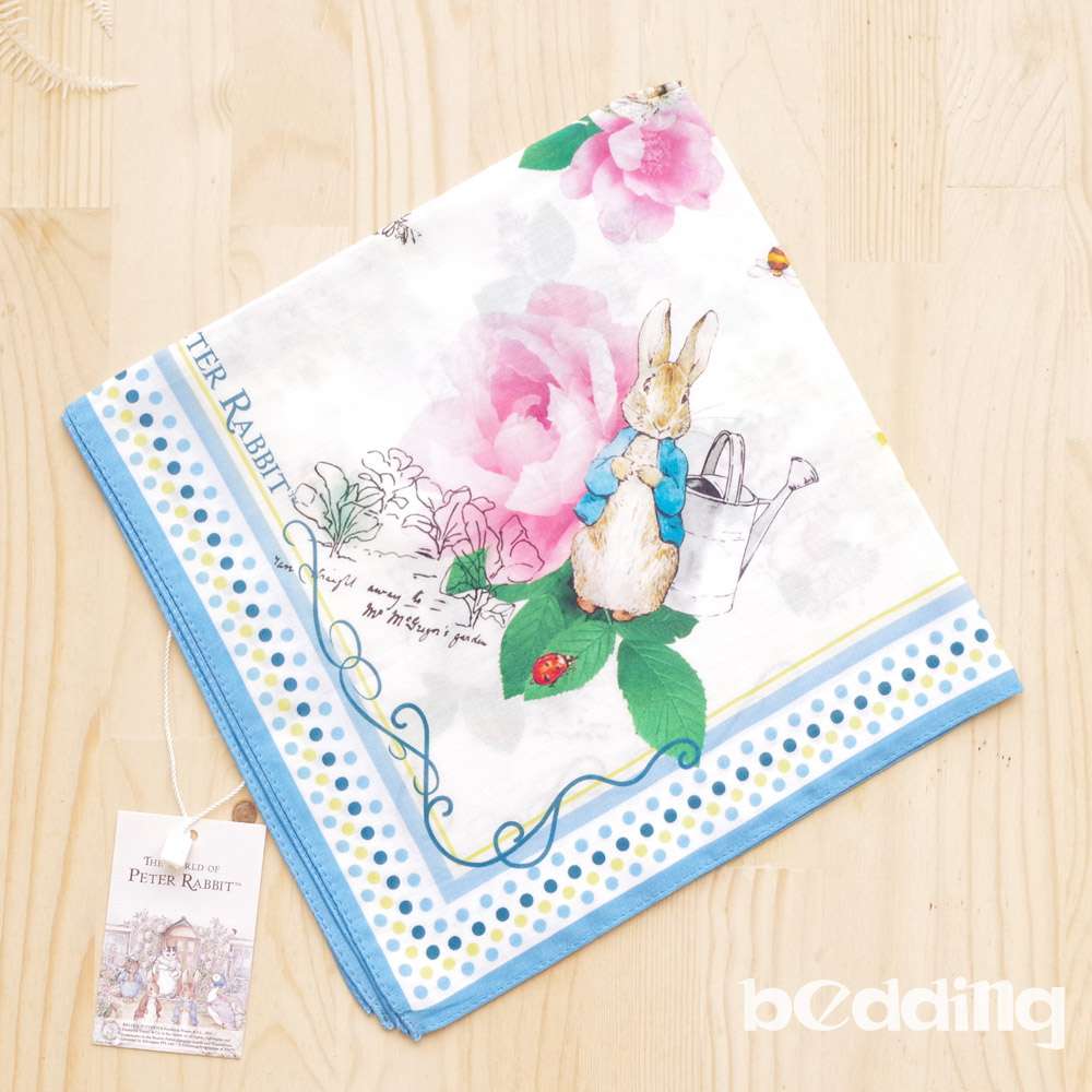 BEDDING-Peter Rabbit彼得兔 圍脖系列-比得兔方巾-玫瑰花藍 @ Y!購物