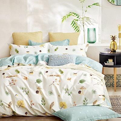 La Lune 台灣製40支精梳純棉雙人床包被套四件組 本草綱目北歐篇