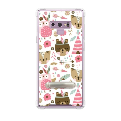 Corner4 Samsung Galaxy Note 9 四角防摔立架手機殼-森林物語
