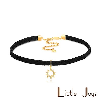 Little Joys 原創設計品牌 質感黑絲絨小太陽鋯石頸鍊 925銀鍍金