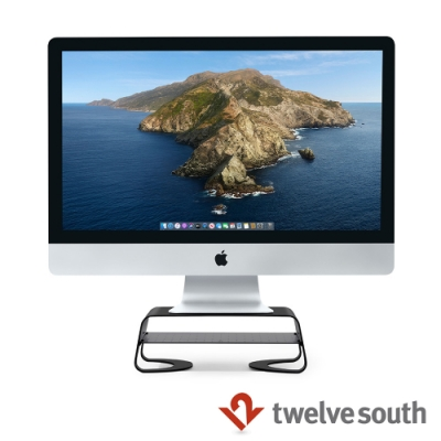 Twelve South Curve Riser for iMac 桌面支架 - 黑