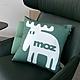 moz瑞典 北歐風雙面抱枕套(經典LOGO-樹木綠)45cm product thumbnail 1