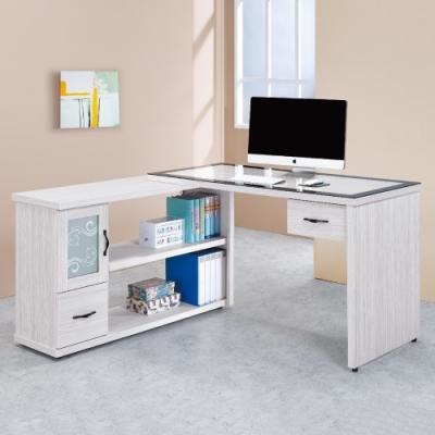 AS-洛伊絲4.4尺L型書桌-131.1x60x81cm
