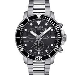 TISSOT SEASTAR 海星計時潛水錶(T1204171105100)45.5mm