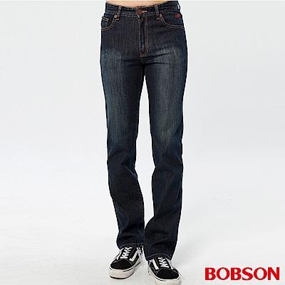 BOBSON 男款熱感IN直筒牛仔褲(藍52)