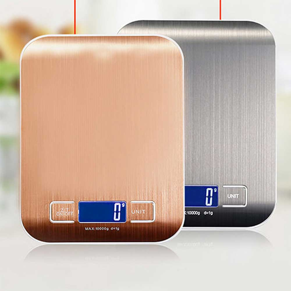 新色上市 廚房不鏽鋼髮絲紋電子秤 磅秤 料理秤(適用1g~5kg)
