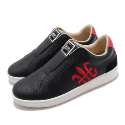 Royal Elastics 休閒鞋 Bishop 低筒 穿搭 男鞋 基本款 皮革 套腳 簡約 輕便 舒適 黑 紅 01702951