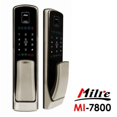 Milre美樂 推拉式密碼/指紋/卡片/鑰匙智能電子門鎖MI-7800-香檳銀(附基本安裝)