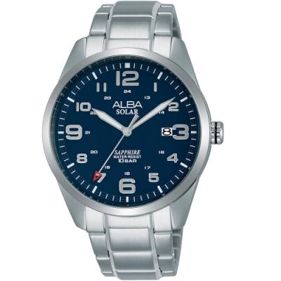 ALBA雅柏經典太陽能時尚手錶(AX3003X1)-藍