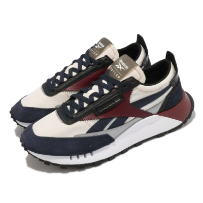 Reebok 休閒鞋 CL Legacy 運動 反光 男女鞋 基本款 簡約 麂皮 情侶穿搭 球鞋 米白 藍 G57861