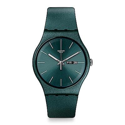 Swatch ASHBAYANG 閃耀墨綠手錶
