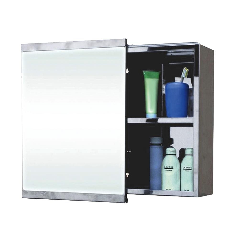 泰家 耐用衛浴壁掛方型拉式不鏽鋼鏡箱