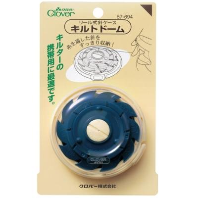 日本可樂牌Clover攜帶型旋轉式收納線針收納盒針線盒57-694裁縫針線收納盒(10格;針線不打結)