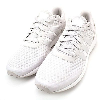 ADIDAS-CF RACE 男慢跑鞋-灰白