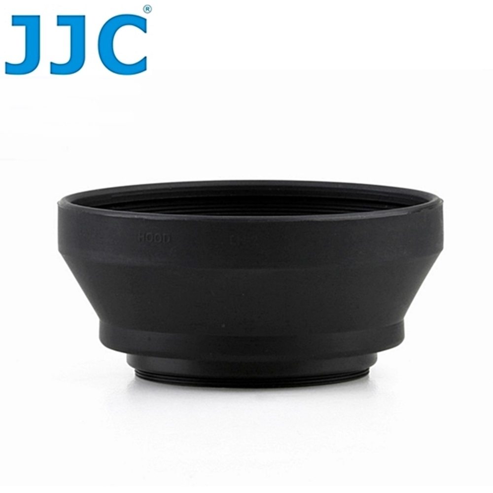 JJC副廠Nikon遮光罩LH-2相容尼康原廠HR-2遮光罩(橡膠材質;可伸縮好收納;適口徑52mm鏡頭,例AF Nikkor 50mm F1.8 F1.4D)