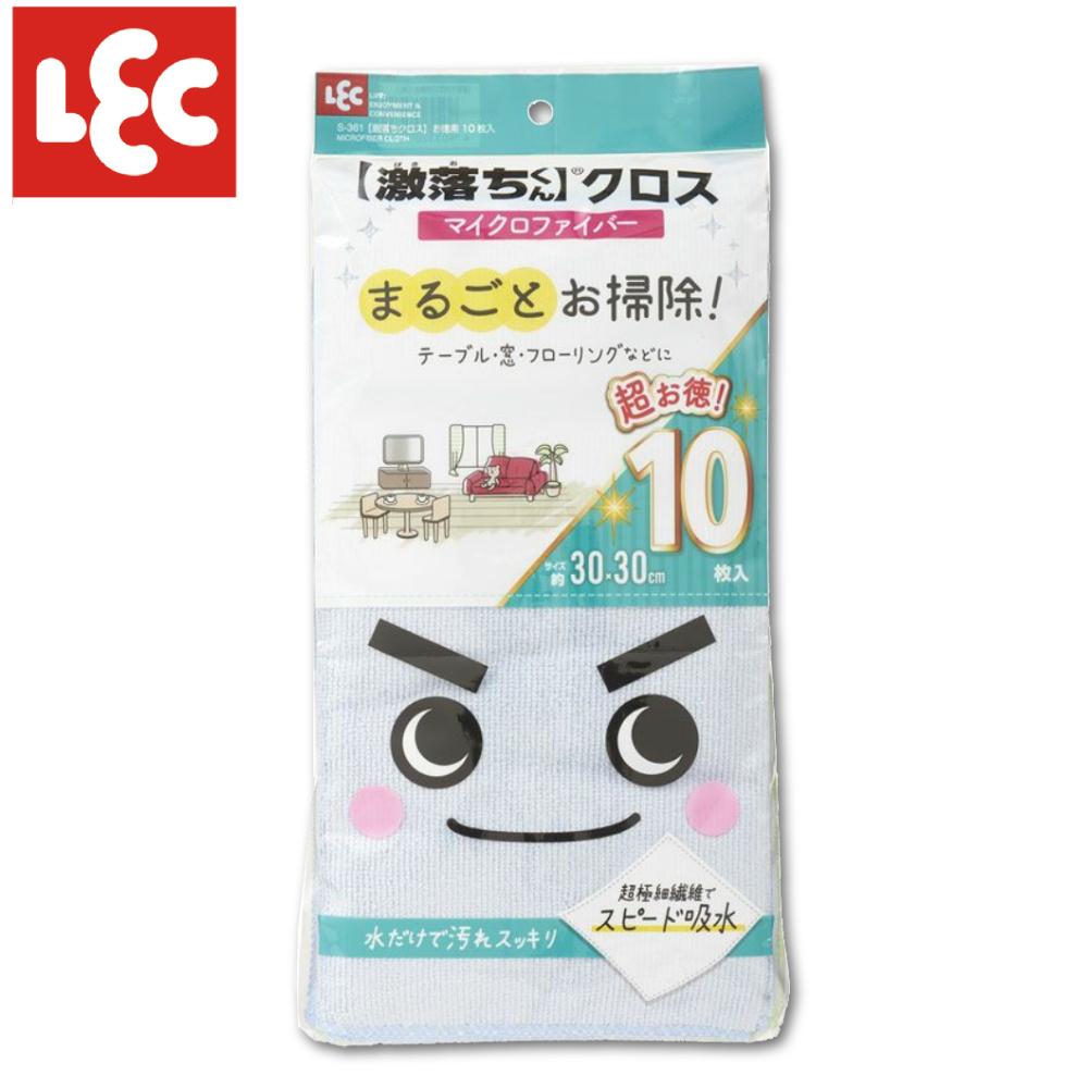 日本LEC 激落免洗劑清潔巾10入組