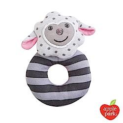 美國 Apple Park 農場好朋友系列 有機棉啃咬手搖鈴 - 小羊夢夢
