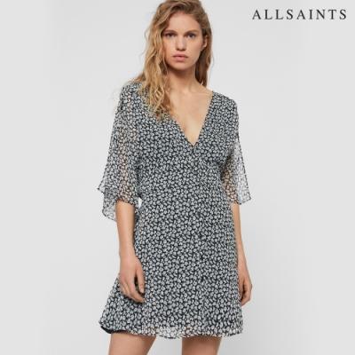 ALLSAINTS IVEY SCATTER 印花七分袖V領短洋裝