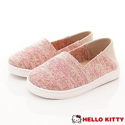 HelloKitty童鞋 凱蒂針織機能懶人鞋款 SE18781粉(中小童段)