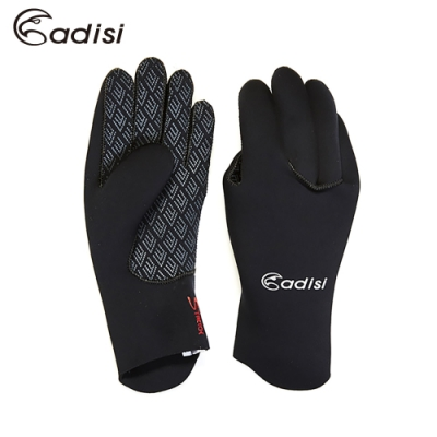 ADISI 全指盲縫潛水手套ASF13187 黑色 (浮潛、止滑手套、溯溪手套)