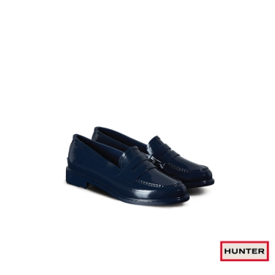 HUNTER - 女鞋-Refined亮面樂福休閒鞋 - 海軍藍