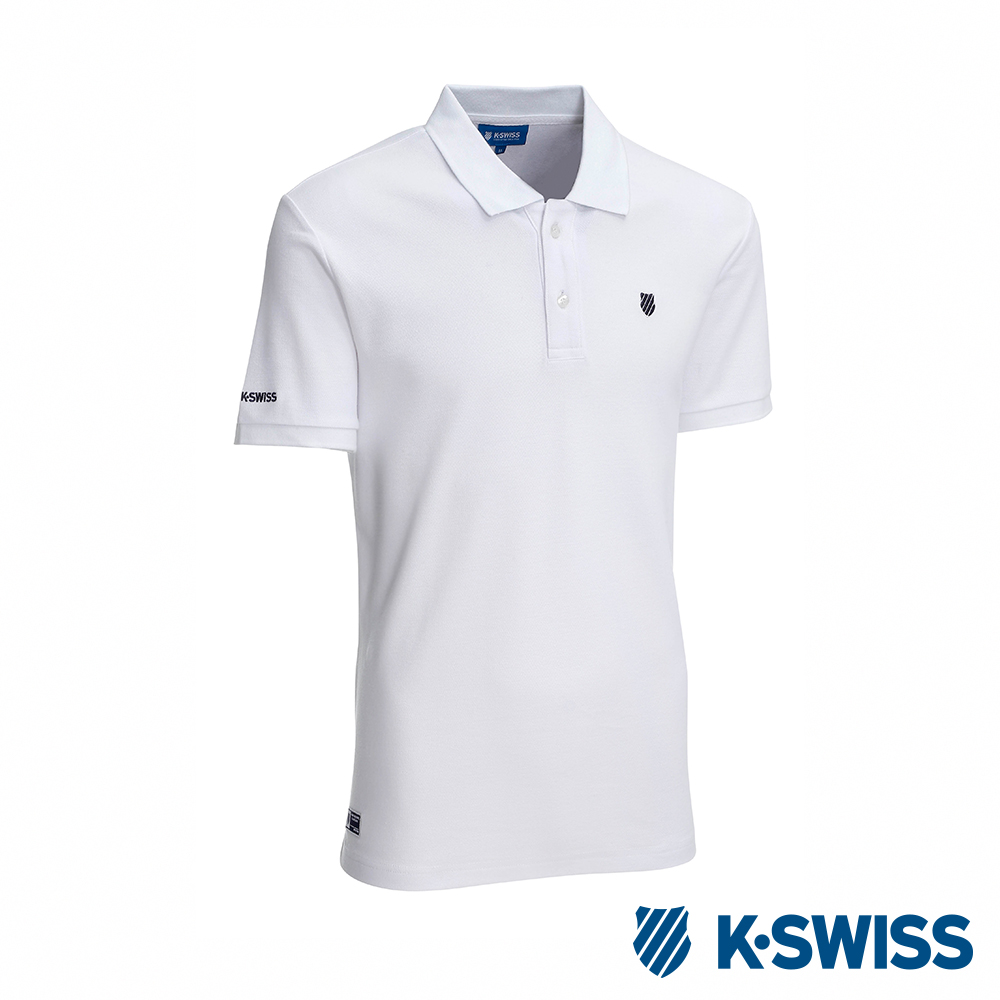 K-SWISS KS Logo Polo短袖POLO衫-男-白