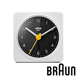 德國百靈 BRAUN 復刻嚴選簡約旅行鬧鐘 (BC02WB)-白黑雙色