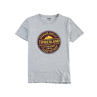 Timberland 男款中灰色麻灰 LOGO T恤|A1NHG