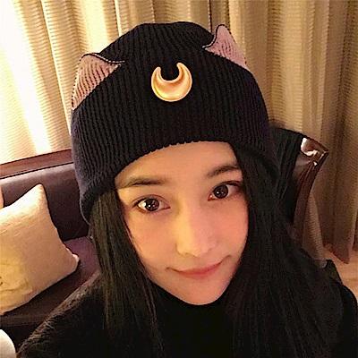 梨花HaNA 美少女戰士月光貓咪耳朵毛帽