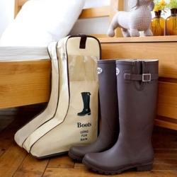 aiken 可視鞋子收納袋 防塵 靴子收納袋 (長筒)