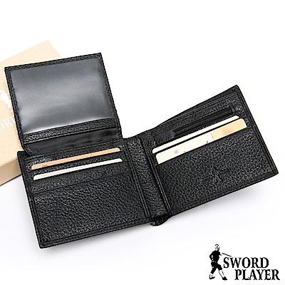 SWORD PLAYER - 莎普爾商務菁英專屬真牛皮8卡1照短夾