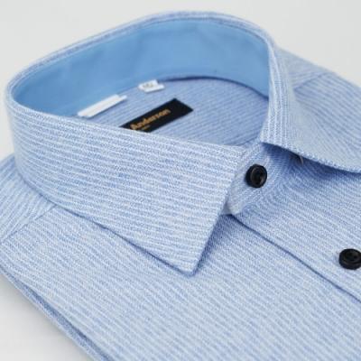 【金安德森】藍白條紋保暖窄版長袖襯衫fast
