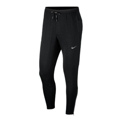 Nike 長褲 Running Pants 男款 運動休閒 跑步 褲管拉鍊 穿搭 反光 黑 銀 CU5505010