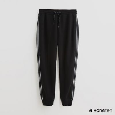 Hang Ten - 男裝 - 純色抽繩休閒長褲 - 黑