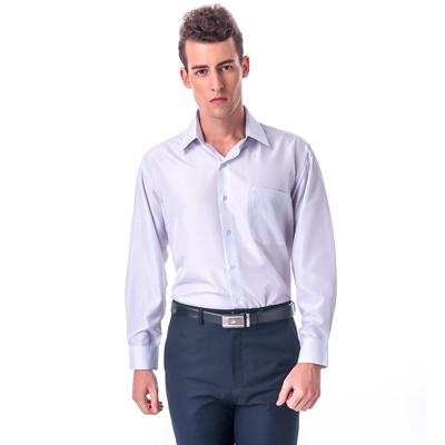 金‧安德森 白底黑細線吸排窄版長袖襯衫fast