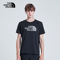 The North Face北面男款黑色吸濕排汗T恤|3V7AV7N