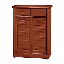 綠活居 赫曼拉時尚2.8尺實木二門鞋櫃/玄關櫃-85x40x106cm-免組