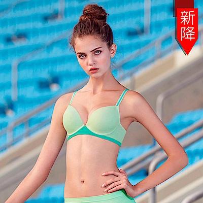 曼黛瑪璉 紓壓好動IceBar包覆內衣  B-E罩杯(清新綠)