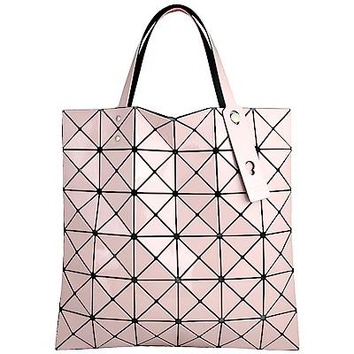 ISSEY MIYAKE 三宅一生BAOBAO雙色三角方格6x6透光手提包(淺粉/粉紅)