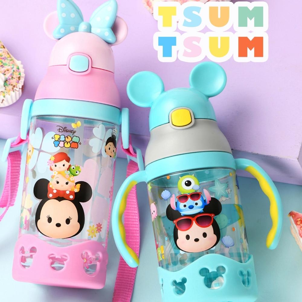 【優貝選】迪士尼 TSUMTSUM 兒童吸管水壺 背帶水壺